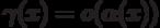 \gamma (x) = o(\alpha (x))