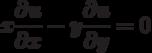 x\frac{\partial u}{\partial x}-y\frac{\partial u}{\partial y}=0