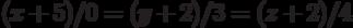 (x+5)/0=(y+2)/3=(z+2)/4