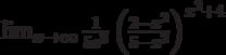 \lim_{x\to \infty}\frac{1}{5e^3}\left(\frac{2-x^2}{5-x^2}\right)^{x^2+4}