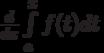 \frac{d}{dx} \int\limits_a^x f(t)dt