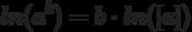 ln(a^b)=b \cdot ln ([a])