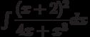 \int\dfrac{(x+2)^{2}}{4x+x^{3}} dx