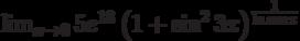 \lim_{x\to 0}5e^{18}\left(1+\sin^2 3x\right)^\frac{1}{\ln\cos x}