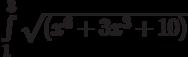 \int\limits_1^3 \sqrt{(x^6+3x^3+10)}