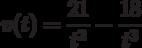 v(t)=\dfrac{21}{t^2}-\dfrac{18}{t^3}