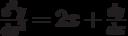 \frac{d^2y}{dx^2}=2x+\frac{dy}{dx}