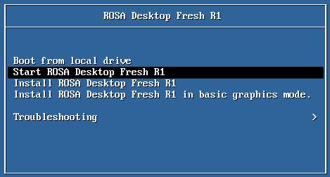 Вариант запуска ROSA Desktop без установки ОС на ПК