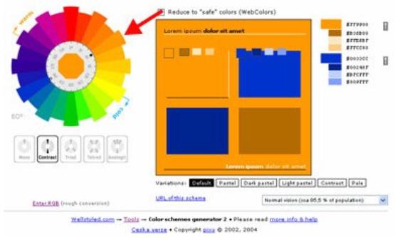 Дополнительная цветовая схема