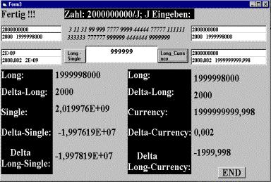 Типы данных; ошибка вычислений (Long, Single, Currency); результаты