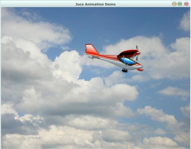 Анимация самолет летит - 15e