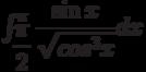 \int_{\dfrac{\pi}{2}}^{\pi} \dfrac{\sin x}{\sqrt{cos^3 x}} dx