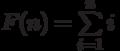 F(n)=\sum\limits_{i=1}^n i