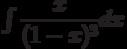 \int \dfrac{x}{(1-x)^3} dx