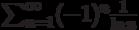 \sum_{n=1}^\infty (-1)^n \frac{1}{\ln n}