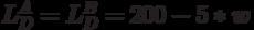 L_D^A=L_D^B=200-5*w