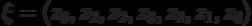 \xi= (z_3, z_2, z_2 , z_3, z_2, z_1, z_3)