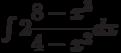 \int 2\dfrac{8-x^3}{4-x^2} dx