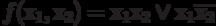 f(х_1, х_2)= х_1х_2 \vee х_1\overline{х_2}