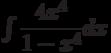 \int \dfrac{4x^4}{1-x^4} dx