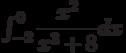 \int_{-2}^{0} \dfrac{x^2}{x^3+8} dx