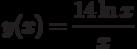 y(x)=\dfrac{14\ln x}{x}