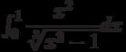 \int_{0}^{1} \dfrac{x^2}{\sqrt[3]{x^3-1}} dx