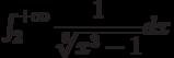 \int_{2}^{+\infty} \dfrac{1}{\sqrt[8]{x^3-1}} dx