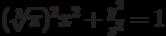 (\sqrt[3]{{\pi}})^2 x^2+\frac {y^2}{z^2}=1