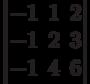 \begin{vmatrix}          -1 & 1 & 2 \\          -1 & 2 & 3 \\          -1 & 4 & 6           \end{vmatrix}