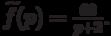 \widetilde{f}(p)=\frac{60}{p+2}.