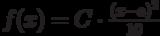 f(x)=C \cdot \frac {(x-a)^2}{10}