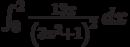 \int_0^2 \frac{13 x}{\left(3 x^2+1\right)^2} \, dx