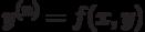 y^{(n)}=f(x,y)