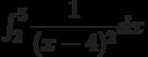 \int_{2}^{5} \dfrac{1}{(x-4)^2} dx