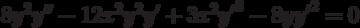 8y^2y''-12x^2y^2y'+3x^2{y'}^3-8y{y'}^2=0