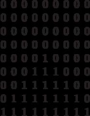 \begin{matrix}0&0&0&0&0&0&0&0&0\\0&0&0&0&0&0&0&0&0\\0&0&0&0&0&0&0&0&0\\0&0&0&0&0&0&0&0&0\\0&0&0&0&1&0&0&0&0\\0&0&0&1&1&1&0&0&0\\0&0&1&1&1&1&1&0&0\\0&1&1&1&1&1&1&1&0\\1&1&1&1&1&1&1&1&1\end{matrix}