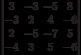 \begin{vmatrix}          3 & -3 & -5 & 8 \\          -3 & 2 & 4 & -6 \\          2 & -5 & -7 & 5 \\          -4 & 3 & 5 & -6          \end{vmatrix}