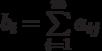 b_i=\sum\limits_{i=1}^{m} a_{ij}