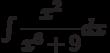 \int \dfrac{x^2}{x^6+9} dx