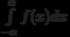 \int\limits_{-\alpha}^\alpha f(x)dx