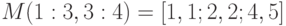 M(1:3, 3:4)=[1,1;2,2;4,5]