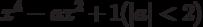 x^4 - ax^2 + 1(|a|<2)