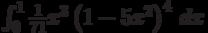 \int_0^1 \frac{1}{71} x^3 \left(1-5 x^2\right)^4 \, dx