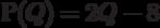 Р(Q) = 2Q - 8