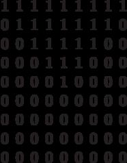 \begin{matrix}1&1&1&1&1&1&1&1&1\\0&1&1&1&1&1&1&1&0\\0&0&1&1&1&1&1&0&0\\0&0&0&1&1&1&0&0&0\\0&0&0&0&1&0&0&0&0\\0&0&0&0&0&0&0&0&0\\0&0&0&0&0&0&0&0&0\\0&0&0&0&0&0&0&0&0\\0&0&0&0&0&0&0&0&0\end{matrix}