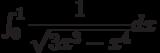 \int_{0}^{1} \dfrac{1}{\sqrt{3x^3-x^4}} dx