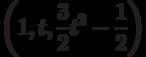 \left( 1,t,\frac{3}{2}t^{2}-\frac{1}{2}\right)