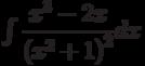 \int \dfrac{x^3-2x}{\left( x^2+1\right)^2} dx