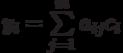 y_i=\sum\limits_{j=1}^{m} a_{ij}c_i